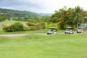 ゴルフコースとカート FYI00911346