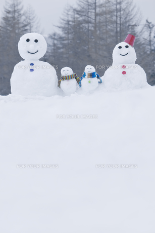 雪だるまのファミリー FYI00912178