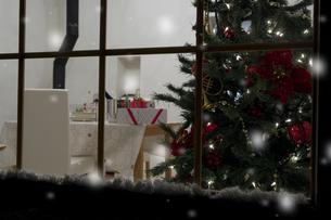 窓越しに見えるクリスマスツリー FYI00914735