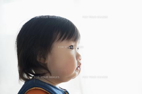 見上げる赤ちゃんの横顔 FYI00934734