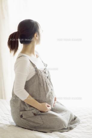 窓辺に座る妊婦 FYI00935173