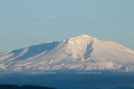 夕映えの雪山 大雪山 FYI00942081