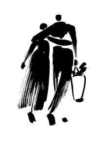 肩を組んで歩く夫婦の後姿 FYI00945650