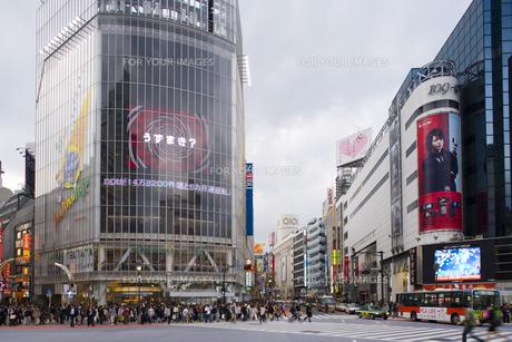 渋谷駅前のスクランブル交差点 FYI00975796