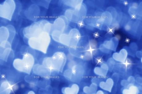 青いハートと星のコラージュ FYI00980936