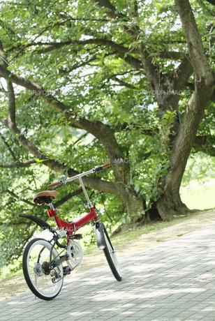 道に止まる自転車 FYI00981125