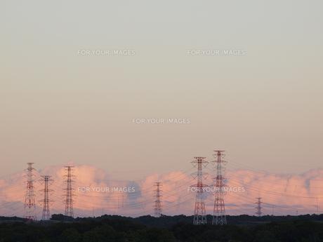 夕空と送電線 FYI01015509