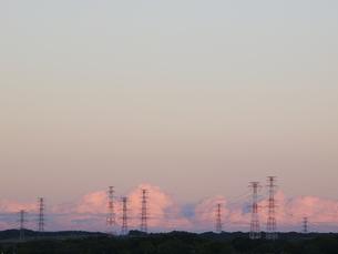 夕空と送電線 FYI01015600