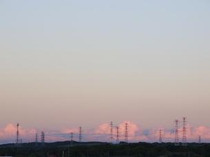 夕空と送電線 FYI01015611