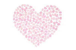 桜の花びらで作ったハート FYI01016605