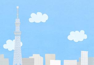 スカイツリーと青空のコラージュ FYI01017616