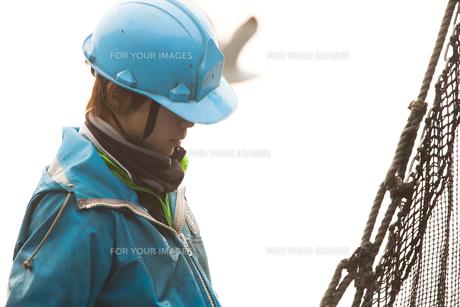 作業する漁師 FYI01030578