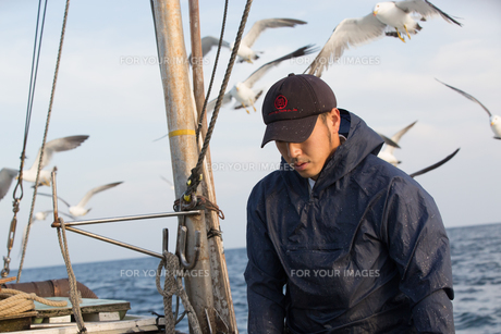 定置網漁の男性 FYI01030678