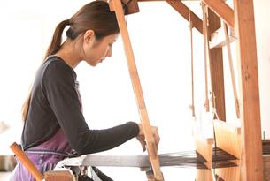 大島紬を織る女性 FYI01030753