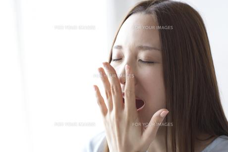 あくびをする女性 FYI01032349