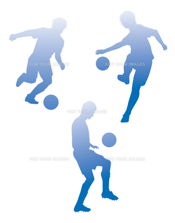 サッカーシルエットの素材 [FYI01041256]