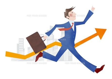 目標に向かって走るビジネスマン FYI01041840