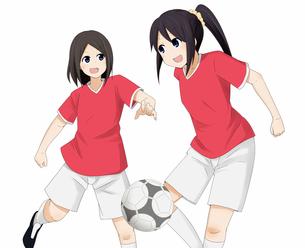 試合中のサッカー部の女の子の素材 [FYI01042336]