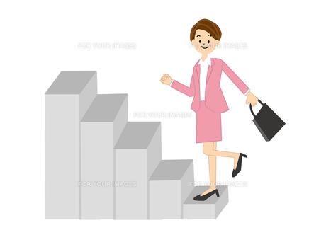 階段をかけあがる女性 FYI01043707