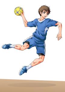 ハンドボールをする少年 FYI01046058