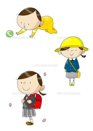 女性の一生 誕生から小学校入学 FYI01046165