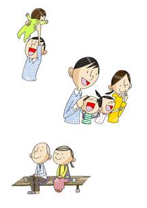 男性の一生 出産と育児と老後 FYI01046170