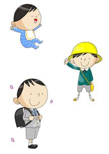 男性の一生 誕生から小学校入学 FYI01046178