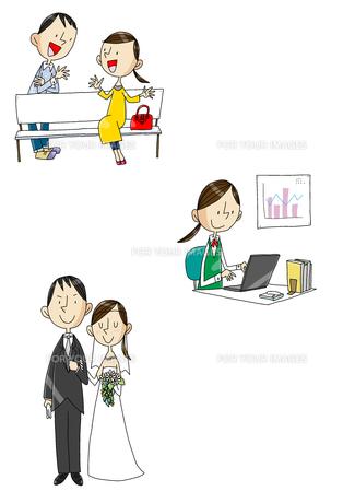 女性の一生 大学から就職から結婚 FYI01046205
