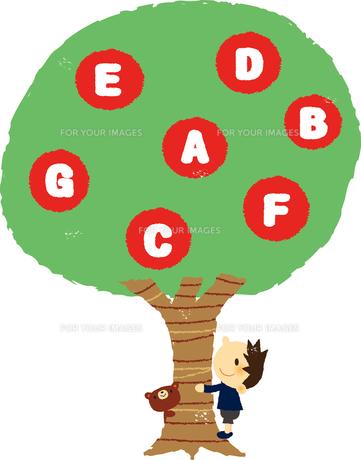 アルファベットの木と男の子 FYI01050404