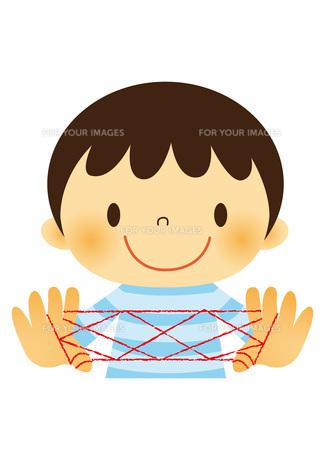 昔遊び(あやとり)をする子ども FYI01050443