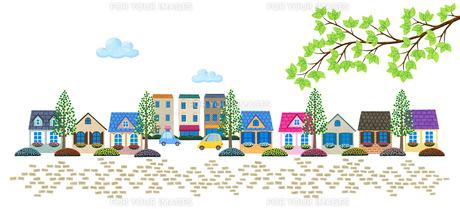 石畳の住宅街 Fyi01060038 気軽に使える写真イラスト素材