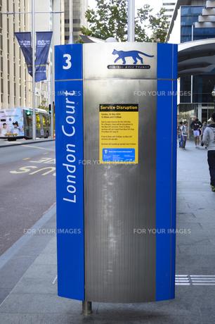 パース市街のCATのバスストップ表示 FYI01063747