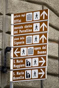 フィレンツェの道案内表示 FYI01080691