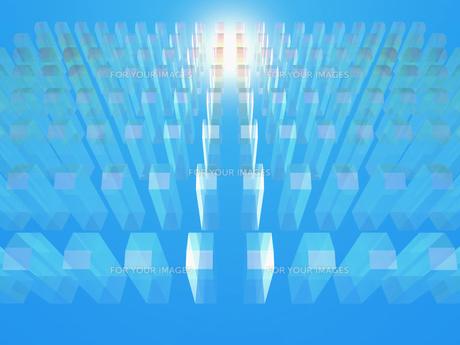 整列する透明なオブジェと光 FYI01156308