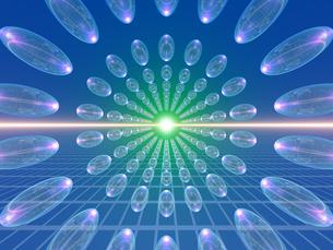 整列した透明な球体 FYI01156365