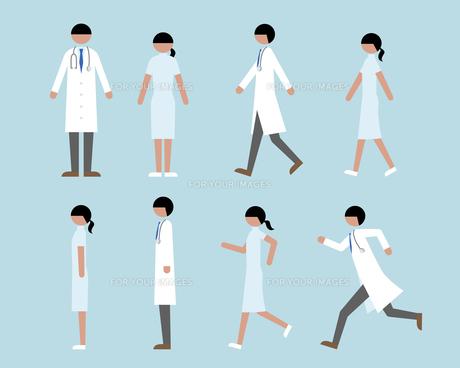 医者看護師歩く走る横 Fyi01157163 気軽に使える写真