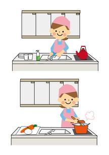 家事をする女性 FYI01157332