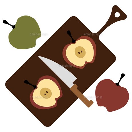 リンゴとカッティングボード FYI01159002
