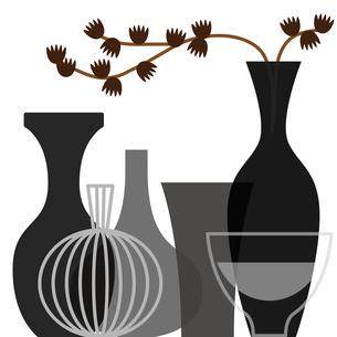 花瓶と植物 FYI01159003
