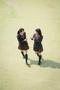 校庭を歩く女子高校生 FYI01220898
