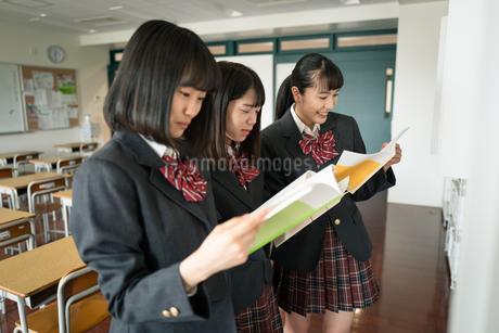 ノートを見る女子高校生 FYI01220975